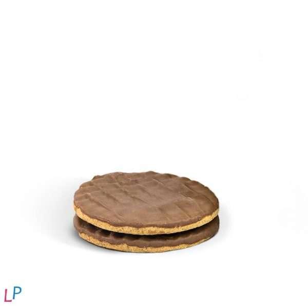 Krokante Koekjes met laagje Zwarte Chocolade VERY LOW SUGAR (4 stuks per pakje)