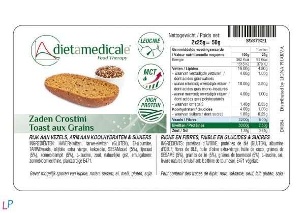Omega-3 bruscetta's 2 x 35 g