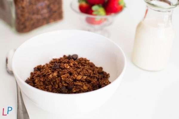 Eiwitrijke very low sugar muesli pure chocolate met stevia POT 13 porties
