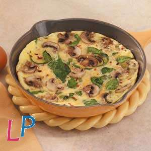 Omelet O'champignon met stukjes champignon