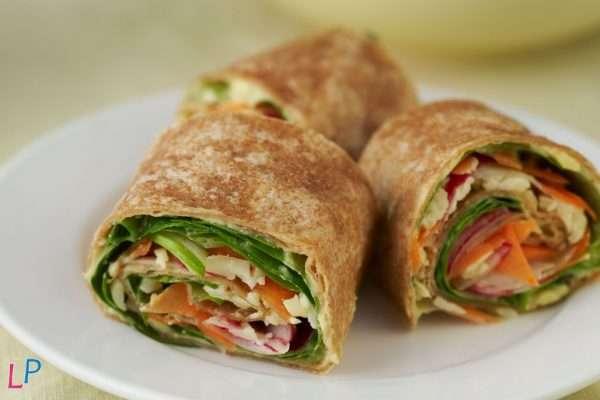 3 wraps 50 g eiwitrijk vegan